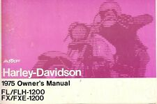 1975 HARLEY-DAVIDSON FL/FLH/FX/FXE OWNERS MANUAL -FX1200-FXE1200-FL1200-FLH1200