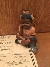 All Gods Children Rachell Collectible Figurine No. 1404 Martha Root Coa #165 '96