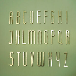 7cm Brass A-Z Alphabet Letter Signs House Door Address Apartment Office Signs