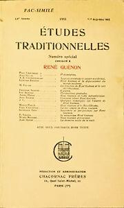 èTUDES TRADITIONNELLES - RENé GUéNON - 1982
