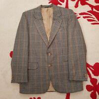 Vintage Brook Taverner Mens Single Breasted Jacket Chest 38 R Houndstooth