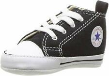 Neu Baby Erste Converse UK Größe 3 Schwarz Weiß in Geschenkbox Eu 19 Stiefel