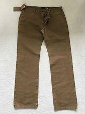 Paul Smith color ruggine marrone bottoni FLY stile jeans pantaloni 32 R