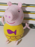 TALKING PEPPA PIG CHARACTER PLUSH TOY! SOFT TOY ABOUT 38CM YELLOW SWIM KIDS TOY!