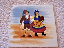 Estate: Rare, Very Old Ceramic Art Tile 1960 From Maczau - Colorful - Unique