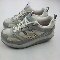 Skechers Womens Shape Ups Toning Walking Shoes Metallic Gray SN11814 Low Top 7