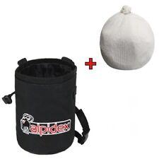Spar-Paket: Chalkbag Farbe Black Rock mit Chalk Ball 35 g von Alpidex
