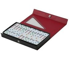 Dominoes Double 6 Six Jumbo Size Color Dot White Tile Game Set 28 Pieces New