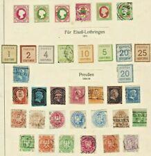 German States PRUSSIA NORTH CONFEDERAT Stamp Collection PMK INTEREST Ref:QT637a
