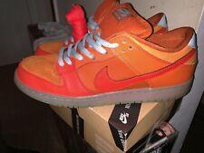 Rare Men's Nike SB Dunk Low Gamma Orange Fire and Ice Size 12 304292-868