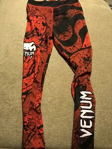 Mens Venum compression spats Jui Jitsu Tights Size 31/32 Small S