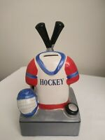 Rare Hockey Theme Piggy Bank By Lollipop