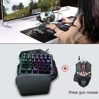 HXSJ V100 Wired Gaming Einhand Keyboard Tastatur Beleuchtet Mechanisch Backlight