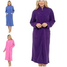 Ladies Lady Olga Button Down Soft Fleece Dressing Gown Robe UK Sizes 10-28
