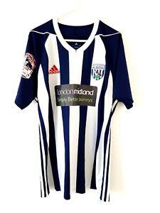 West Bromwich Albion Home Shirt 2017. Large Original Adidas Matchworn. WBA Brom.