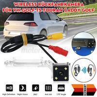 12V HD LED Rear Reverse Camera Wireless IP67 For VW Passat T5 Caddy Golf Skoda