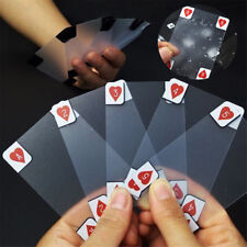 Creative Transparent Waterproof Poker Size Playing Cards Game Novelty Funny Part