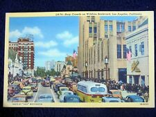 OLD PPC: LOS ANGELES~LA.74~WILSHIRE BOULEVARD~ANIMATED~OLD BUSES & CARS