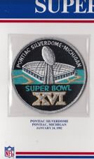 1982 SUPER BOWL XVI PATCH ONLY SAN FRANCISCO 49ERS CINCINNATI BENGALS WILLABEE