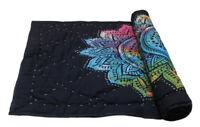 Handmade Baby Quilt Indian Multicolor Lotus Mandala Blanket Throw 100% Coverlet