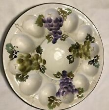 """Style Eyes by Baum Butterfly Devil Egg Plate 11"""" EUC"""