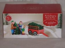 "NEW St. Nicholas Square ""Family Chopping Down The Tree"" From Village Collection"