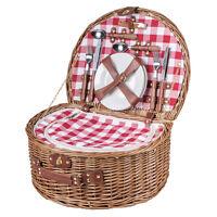 Picknickkorb halbrund für 4 Personen - Picknickkorb komplett als Kühltasche