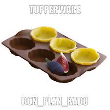 Moule à 6 tartelettes en silicone - Tupperware **NEUF**
