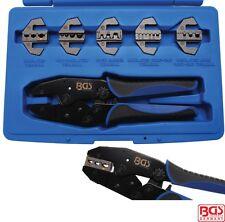 Las HERRAMIENTAS BGS Crimping Tool Set Con 5 pares de las mandíbulas 1410