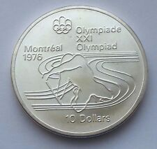 1975 CANADA SILVER $10 1976 MONTREAL OLYMPICS PADDLING COIN
