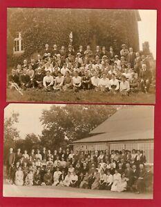 2 Unidentified Social History RP pcs unused H Mack Llanwrtyd Wells  AM342