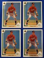 1991 Upper Deck Chipper Jones RC #55 Baseball (4) Card Investment Lot SHIPS FREE