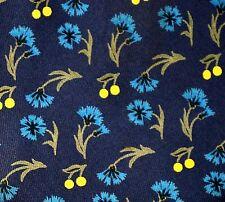 HERMES hermès Cravate 7558 sa cravatta Necktie floral bleu