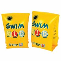 Inflatable Swimming Arm Bands Yellow Roll Up Armbands Unisex 1-6 Years Child