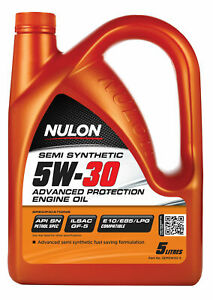 Nulon Semi Synthetic Advanced Protection Engine Oil 5W-30 5L SEM5W30-5 fits H...