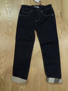 BURBERRY Girl's Jeans with Nova Check Cuffs Size 6Y BNWT