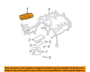 Chevrolet GM OEM 08-10 Malibu 3.6L-V6 Fuse Relay-Junction Block 20822701