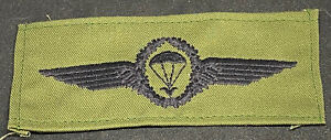 Military Parachute Combat Halo Wings Patch