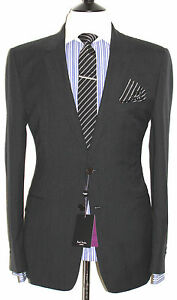 BNWT TAILOR-MADE PAUL SMITH THE REGENT  CHARCOAL DARK GREY SUIT 46R W40