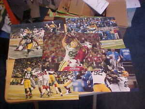 """(5X) Aaron Rodgers """"HAIL MARY TOUCHDOWNS"""" 8x10 Color Photos Cobb Janis RRodgers"""