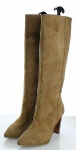 45-19  $578 Women's Sz 6.5 M Paige Carmen Suede Tall Pointy Toe Boot