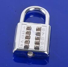 5 Number Combination Digit Push-Button Luggage Travel Code Lock Padlock Silver