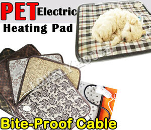 Pet Electric Heat Pad Dog Cat Bunny Heater Mat Warming Blanket Warmer Bed