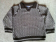 Boys Brown Pattern H&M Sweater  Age 2-3