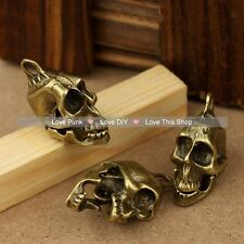 25pcs Tibetan Bronze skull head  Charms the  Talisman pendant 24mm