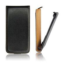 Etui Facon Cuir Noir Flip Case Coque Samsung GT-S7500 Galaxy Ace Plus + Leather
