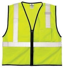 ML Kishigo MLK-1519-S-M Safety Vest; One Pocket Color- Lime; Size- S-M NEW!