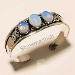 Free Shipping Silver Overlay Bengal Cuff Fire Opal Bracelets links Jewelry