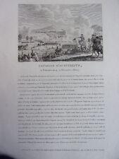 Bataille d' Austerlitz II frimaire an 14. 2 décembre 1805