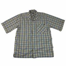 Blackhawk Warrior Wear Men's Medium Short Sleeve Plaid Button Shirt Cotton Poly